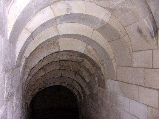 Château de Picquigny descente dans un des souterrains. Photo Damien Maupin