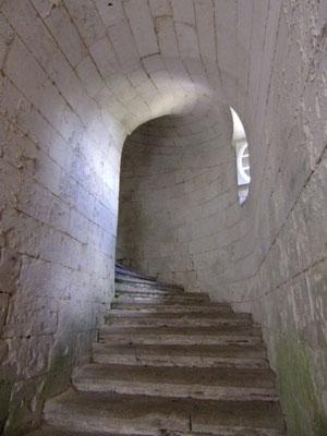 Château de Picquigny, escalier du pavillon Sévigné.Photo Damien Maupin