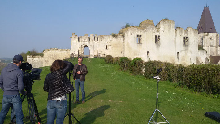 Château de Picquigny, Bruno Solo, la véritable guerre des trônes, tournage façade orientale