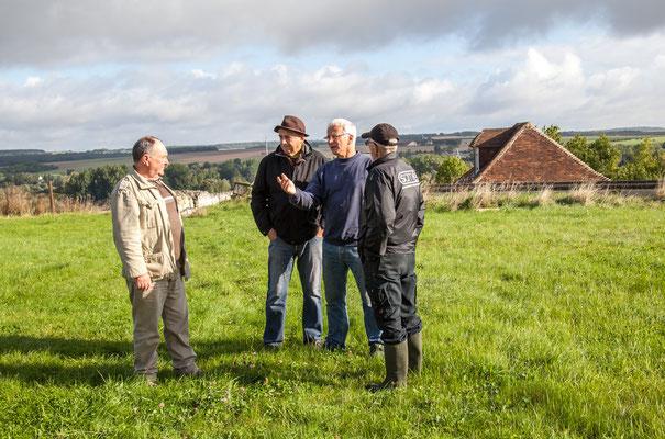 Château de Picquigny. Rencontre avec M Morange (Patrice, M Morange, Damien Maupin, Patrick)