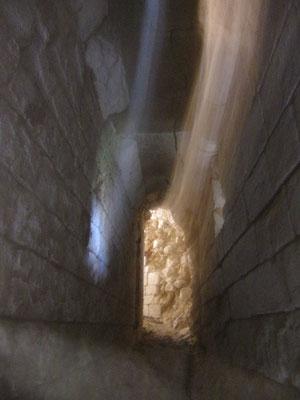 Château de Picquigny couloir d'accès tour sud-est. Photo Damien Maupin