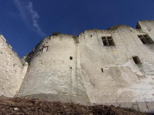 Château de Picquigny, tour sud depuis la rue des rossignols. Photo Damien Maupin