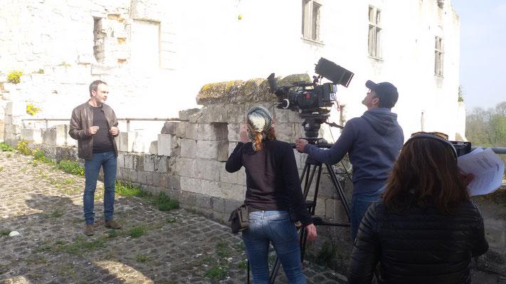 Château de Picquigny, Bruno Solo, la véritable guerre des trônes, tournage à la barbacane