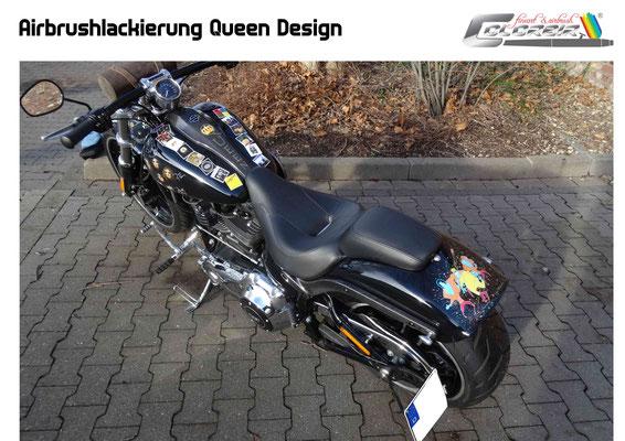 Harley Davidson Breakout Komplettlackierung und Carbonveredelung