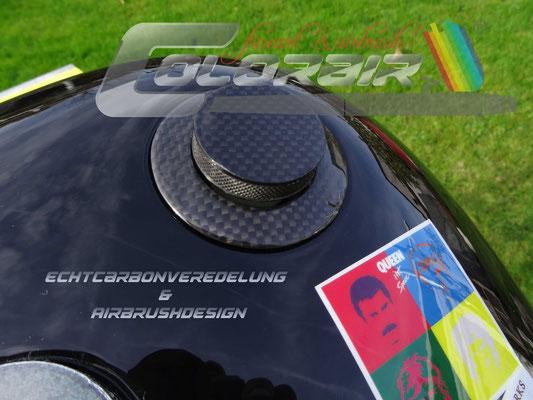 Tankdecke mit Echtcarbon verkleidet