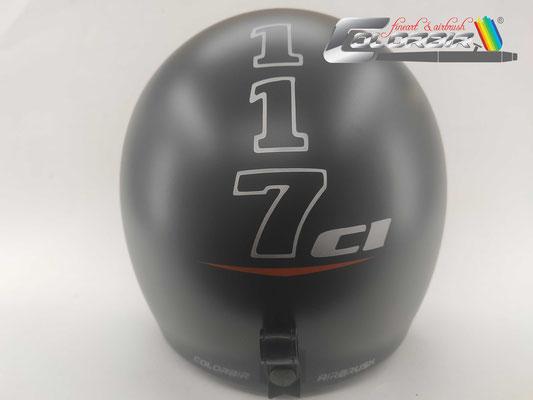 Harley 117 Design auf Jethelm