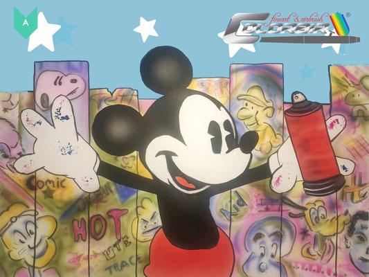 Disney Motiv mit kleinem Graffitianteil