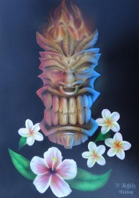Tiki Hawai Motiv Airbrush
