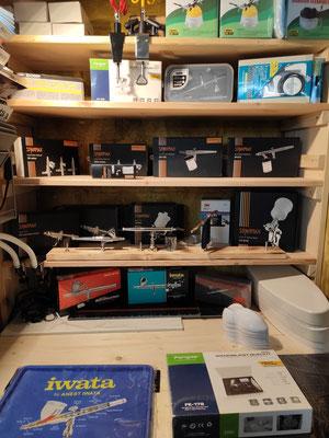 Airbrush Pistolen von Iwata, Sparmax, Fenga, Toricon (mehr als 14 unterschiedliche Modelle)