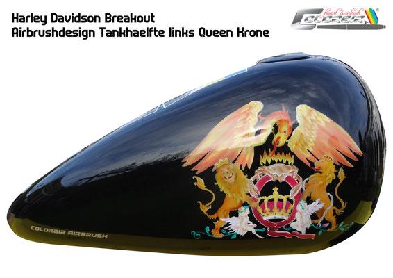 Queen Krone auf Tank
