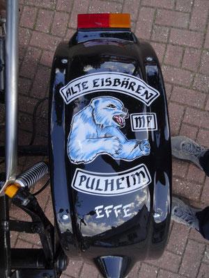 Trike Kotflügel Airbrush Vereinslogo