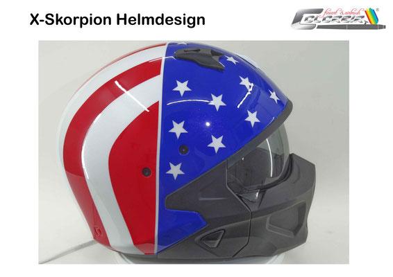 X-Skorpion Helmdesign Stripes