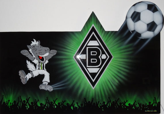Borussia Mönchengladbach Collage mti LED Effekt