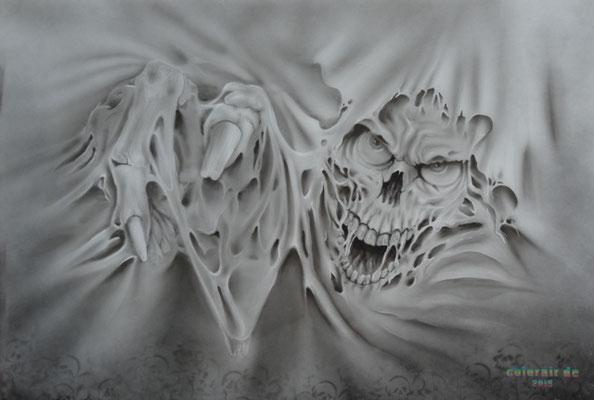 Skull Totenkopf Airbrush