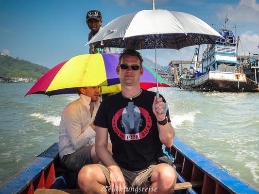 Rückweg mit Schirm