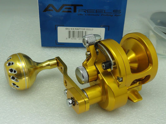 Avet SXJ 6/4 MC Raptor Two Speed with UJ 45mm_A Knob