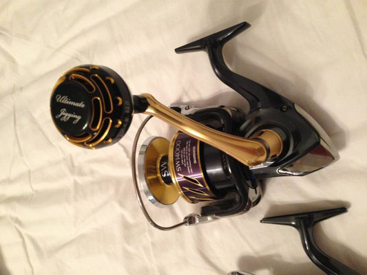 Shimano 2013 Stella SW 14000 & Ultimate Jigging 45mm Type II Reel Knob