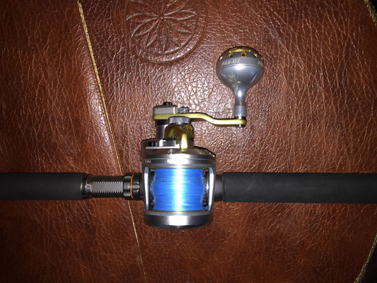 Shimano Talica 2 Speed Reel & Ultimate Jigging 45mm Type II Knob