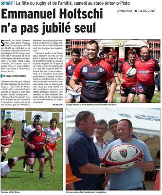 Dauphiné Libéré du 04-06-2018-Rugby à Annonay