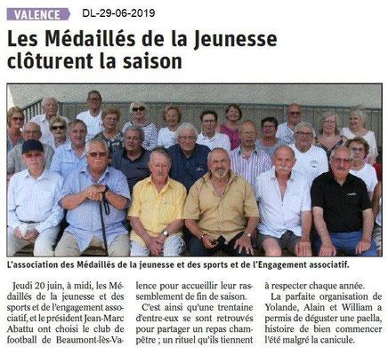 Dauphiné Libéré du 29-06-2019- CD. MJSEA