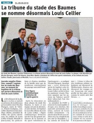 Dauphiné libéré du 09-09-2019- Stade des Beaumes à Valence