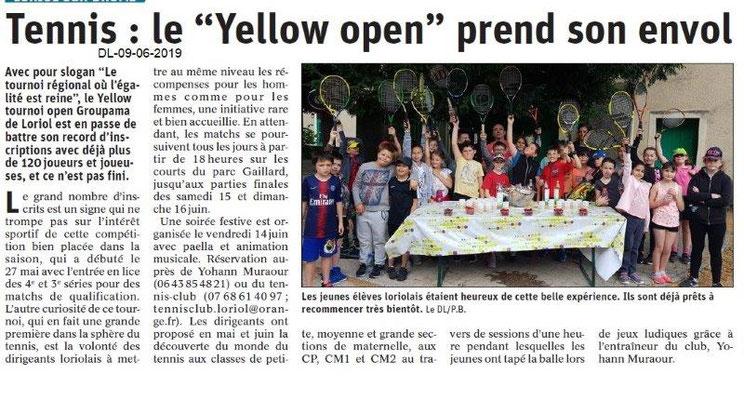 Dauphiné Libéré du 09-06-2019- Tennis de Loriol