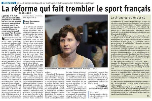 Dauphiné Libéré du 10-06-2019-1-Réforme du Sport