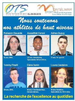 Dauphiné libéré du 09-09-2019- Sport Club de Montélimar
