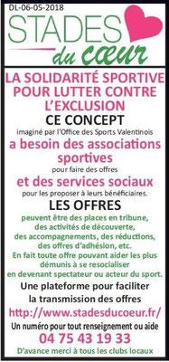 Dauphiné Libéré du 06-05-2018- Les Stades du Coeur-Office des Sports Valentinois