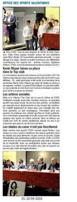 Dauphiné Libéré du 10-04-2018-AG OSValence