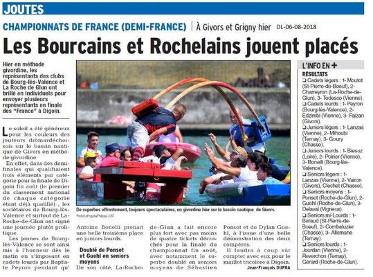Dauphiné Libéré du 06-08-2018- En route pour les France
