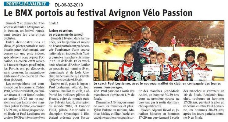 Dauphiné Libéré du 06-02-2019- BMX de Portes lès Valence