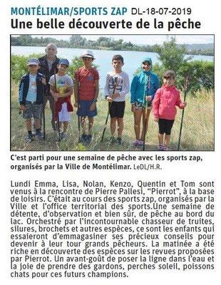 Dauphiné Libéré du 18-07-2017- Sport-ZAP péche de-Montélimar