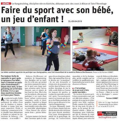 Le Dauphiné Libéré du 05-04-2019- Faire du Sport avec son bébé
