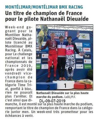 Dauphiné Libéré du 09-07-2019- BMX Montélimar