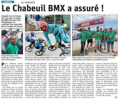 Dauphiné Libéré du 18-06-2019- BMX à Chabeuil