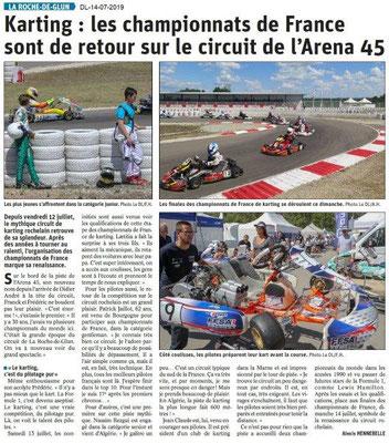 Dauphiné Libéré du 14-07-2019- Karting à La Roche de Glun