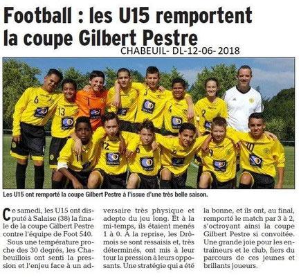 Dauphiné Libéré du 12-06-2018- Foot Chabeuil