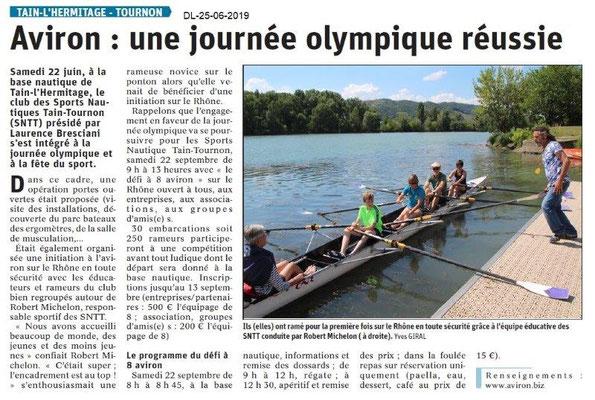Dauphiné Libéré du 25-06-2019- Aviron de Tain-Tournon