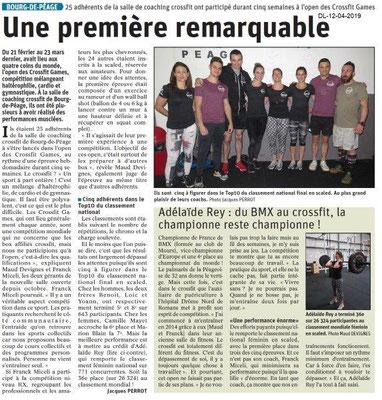 Le Dauphiné Libéré du 12-04-2019- Une première à Bourg d Péage