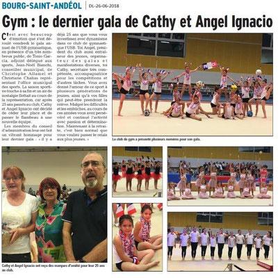 Dauphiné Libéré du 26-06-2016- GYM et son gala