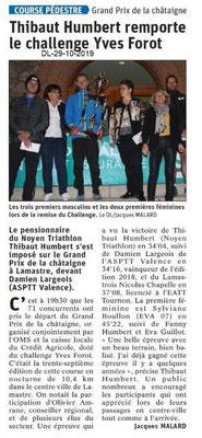 le Dauphiné Libéré du 29-10-2019- Prix de la châtaigne à Lamastre