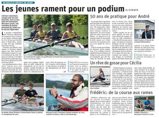 Le Dauphiné Libéré du 15-05-2019- Les enfants du sport Valence