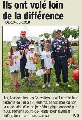 Dauphiné Libéré du 13-05-2018-3- Les chevaliers du Ciel