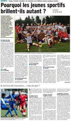 Dauphiné libéré du 29-05-2018- Le sport à VALENCE