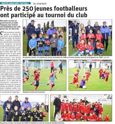 Le Dauphiné Libéré du 10-05-2019- Montélimar UMS Football