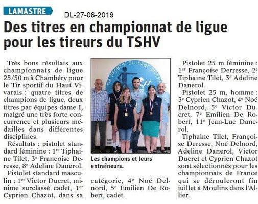 Dauphiné Libéré du 27-06-2019- Les tireurs de Lamastre