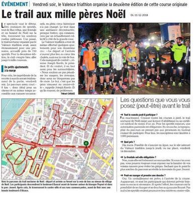 Dauphiné Libéré du 11-12-2018- Trail à Valence