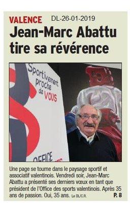 Dauphiné Libéré du 26-01-2019- OSV Jean-Marc Abattu