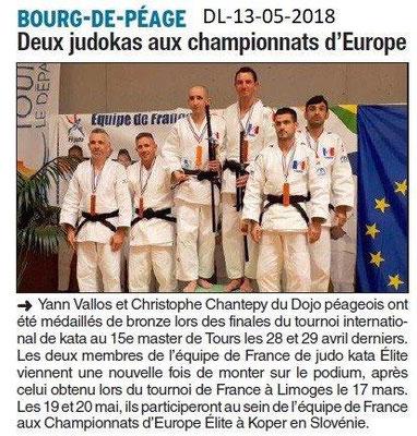 Dauphiné Libéré du 13-05-2018- Judo Bourg de Péage
